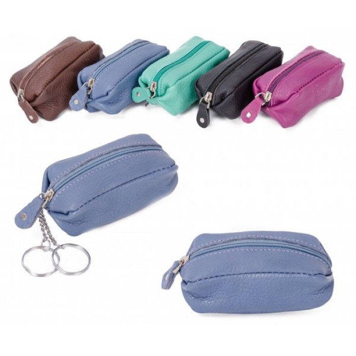CPDM 51 BLUE LONG COIN PURSE W/ 2 KEYRINGS