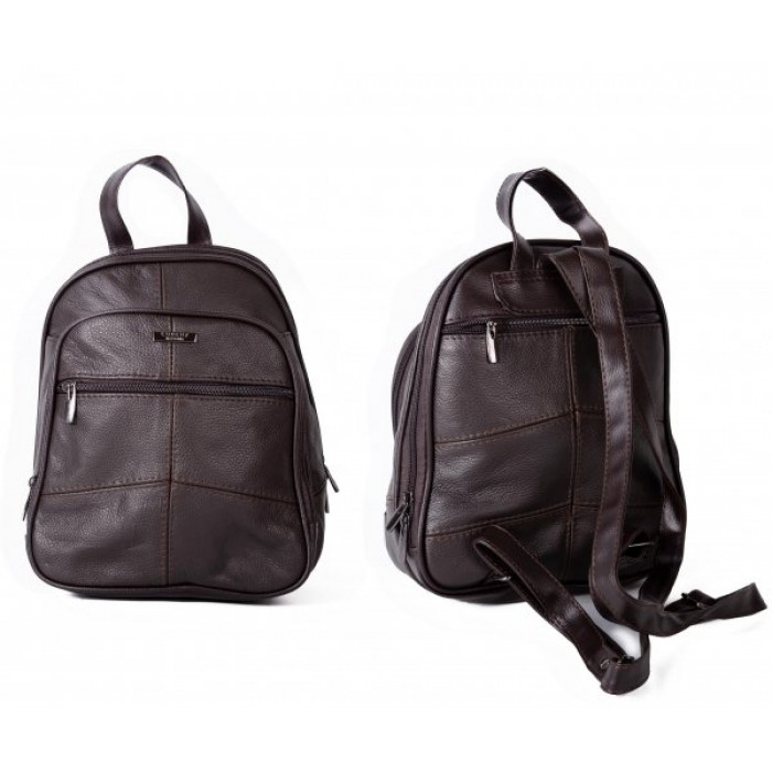 3744D.NAVY BACKPACK WITH TOP ZIP ROUND COMPARTMENT
