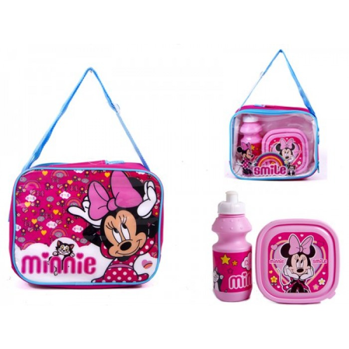 4160-8173 MINNIE LUNCH BAG WITH BOX AND BOTTLE