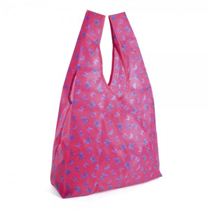 BB0918A FOLDABLE SHOPPING BAG PINK