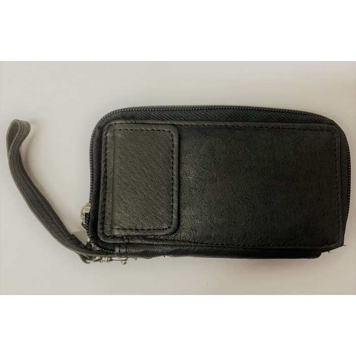 50767 Black Zip Purse with Poppered Front Pocket