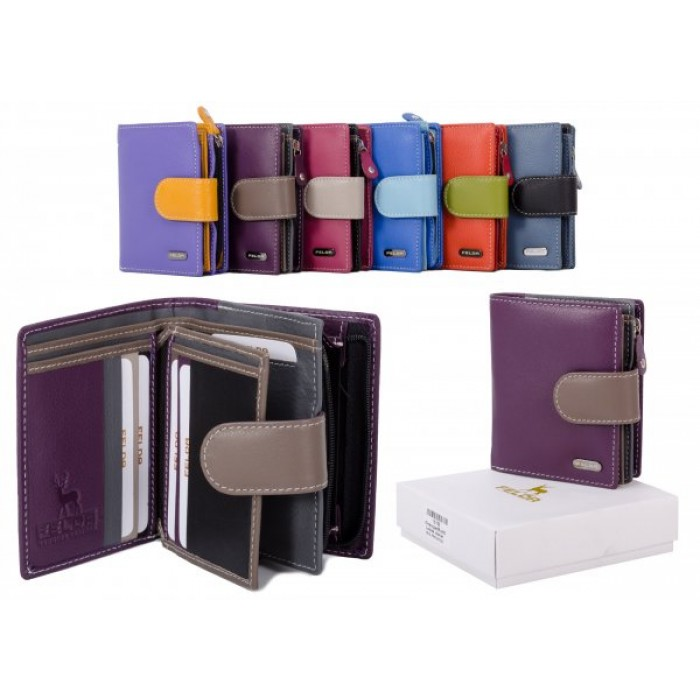 16-103 PURPLE RFID MULTI LADIES WALLET