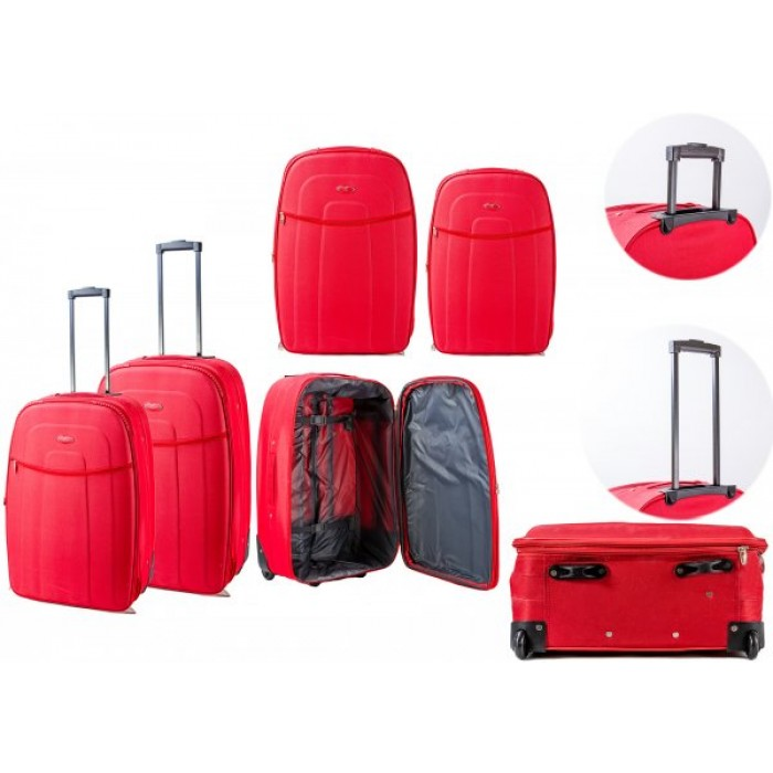 554-ST RED TROLLEY CASE SET OF 2