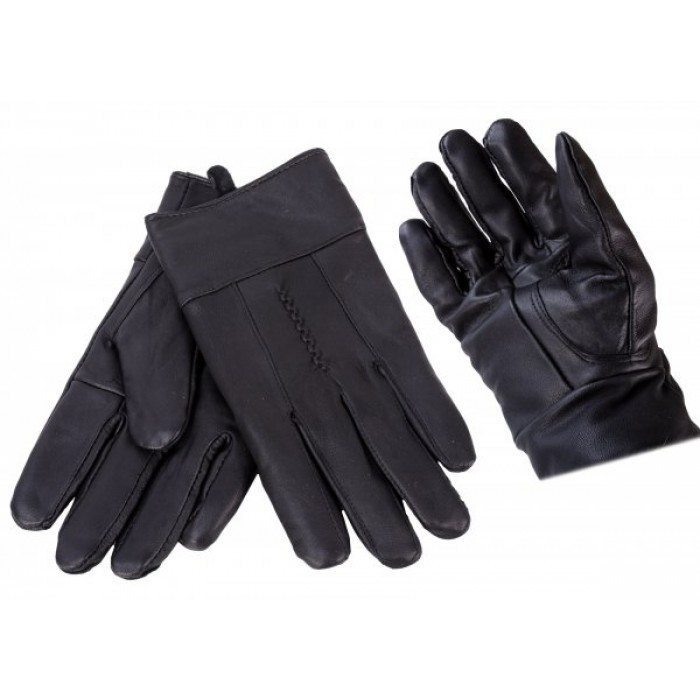 X043 BLACK LEATHER GLOVES ONE SIZE
