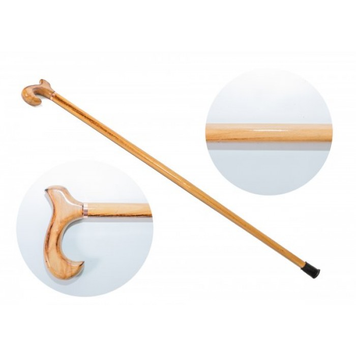 2883 WOODEN WALKING STICK WITH NATURAL STAIN