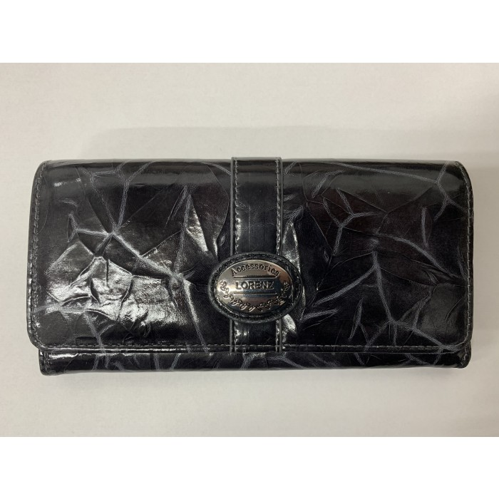 6215 BLACK LORENZ FLAP OVER PURSE