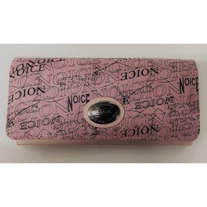 6214 PINK LORENZ FLAP OVER PURSE WITH WRITING