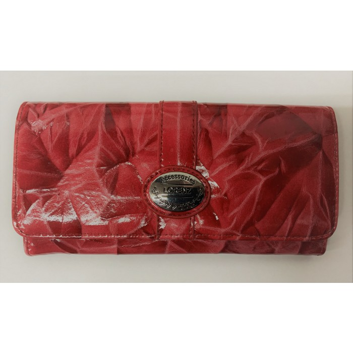 6215 RED LORENZ FLAP OVER PURSE