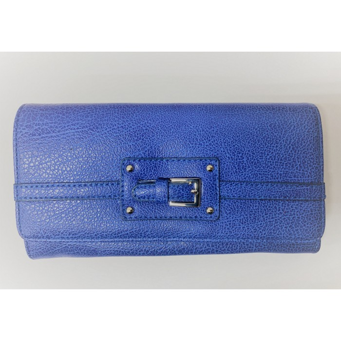 6218 BLUE PU PURSE, POP FRONT CRD HOLDER ZIP MAIN