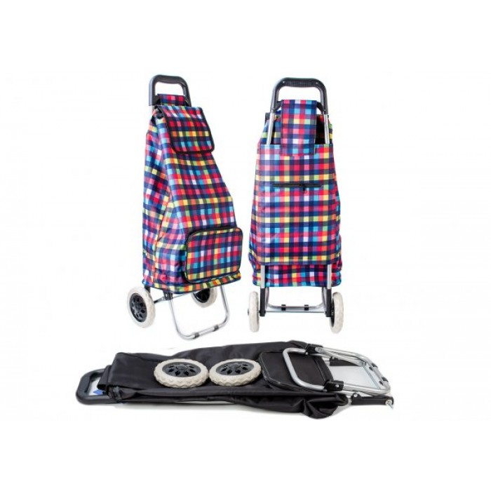 ST-MP-02 MULTI CHECK 2 WHEEL SHOPPING TROLLEY