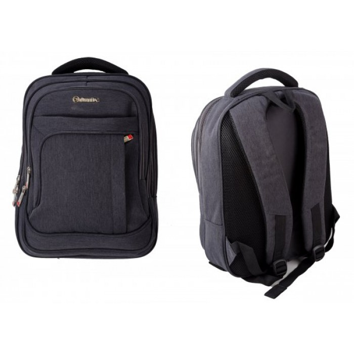 BP855-CH GREY BACKPACK W/LAPTOP SLEEVE & 4 ZIPS