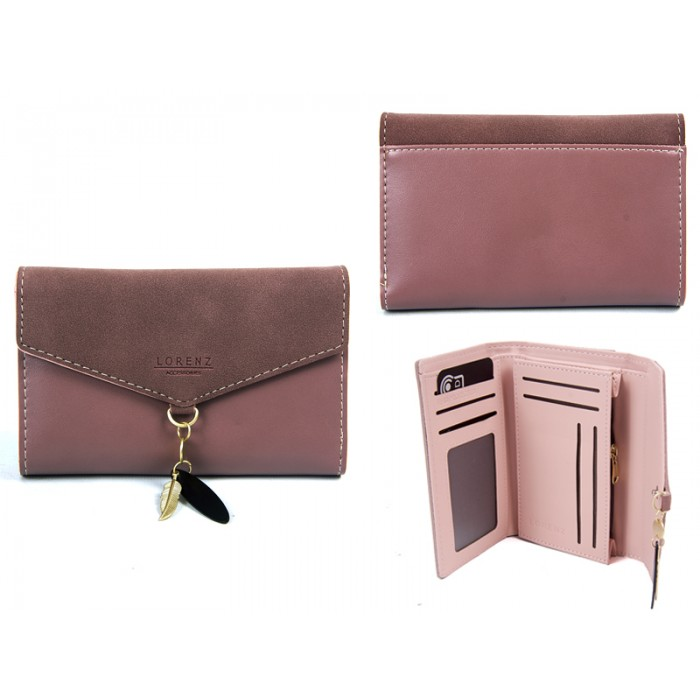 7145 PINK MED ENVELOPE STYLE FLAPOVER PURSERFID CHARM