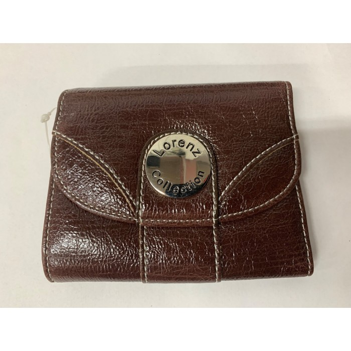 7433 BROWN PU PURSE WITH POPPERED FRONT ID REAR