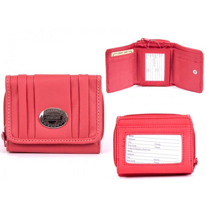 7572 CORAL PU PURSE, POP FRONT & REAR ZIPPED POCKET