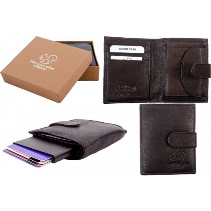 RL 9009 BROWN RFID C-SECURE CASE WALLET