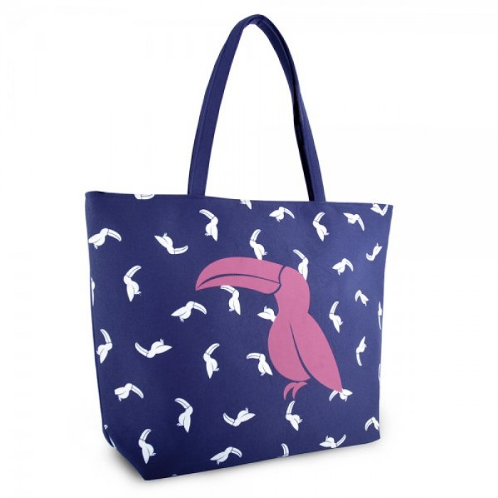 BB1017 CANVAS BAG WITH TOUCAN PURPLE
