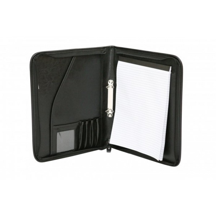828-2 A4 CONFERENCE FOLDER ZIPPED BINDER RING
