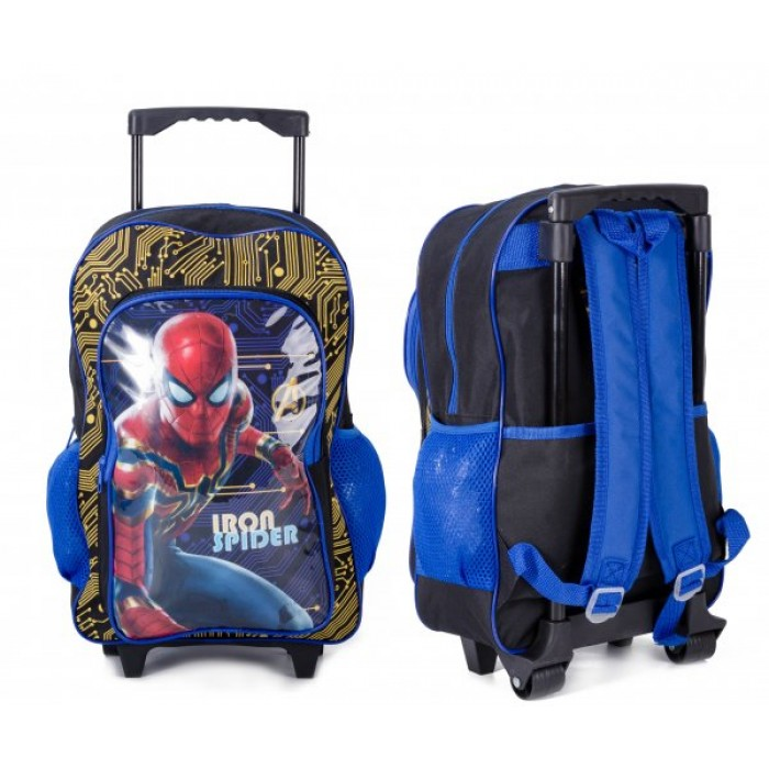 1019HV-8323 DELUXE TROLLEY BACKPACK, IRON SPIDERMAN