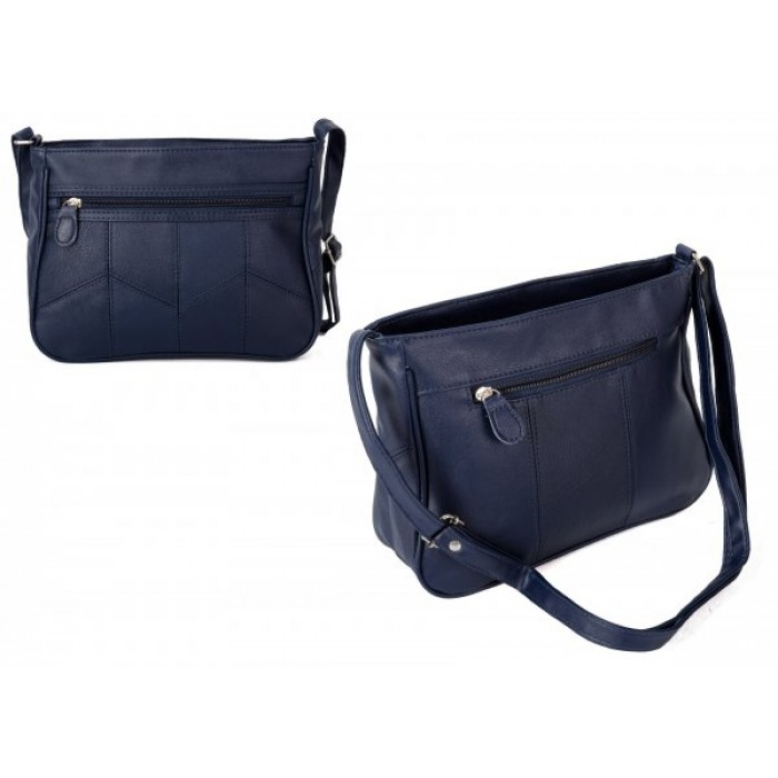 JBHB2549 NAVY CROSS BAG W/ 4 ZIPS