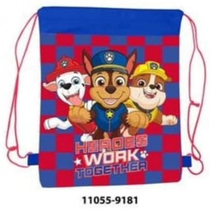 11055-9181 PAW PATROL PULL STRING BAG