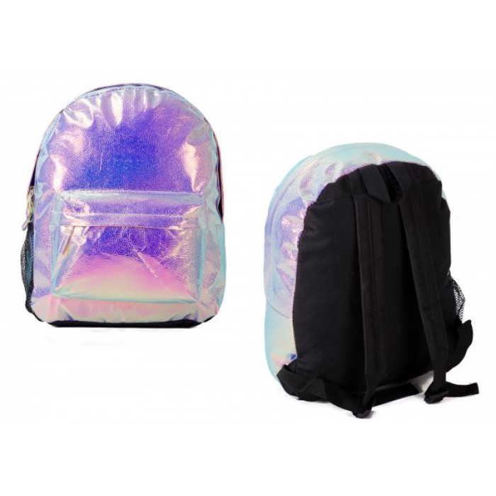 TMC-01551 PEARLESCENT BACKPACK W/ 2 ZIPS & NETTED POCKET