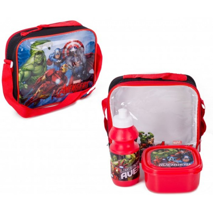 1706HV-57473 AVENGERS 3PC LUNCH SET W/ STRAP