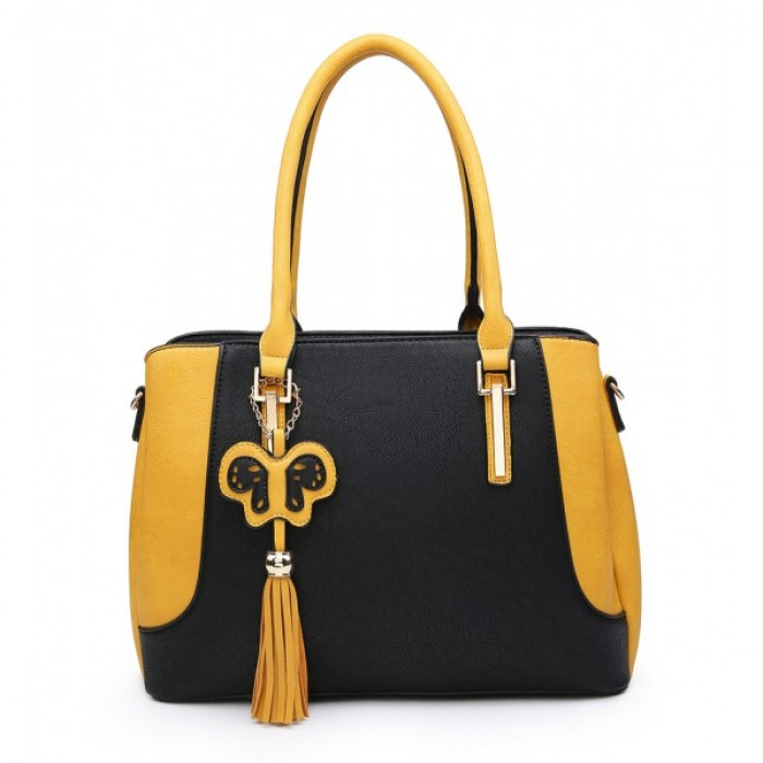 A36373 Shoulder Bag - Black/Tan
