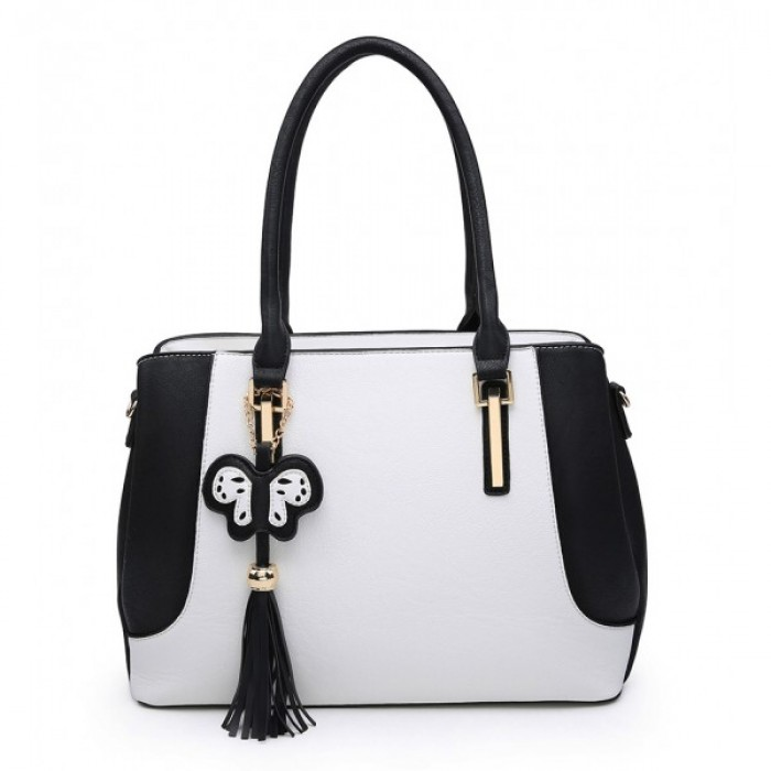 A36373 Shoulder Bag - Black/White