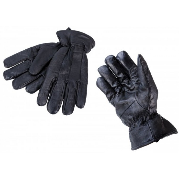 8926 LARGE BLACK LEATHER GLOVES W/ THINSULATE LINING