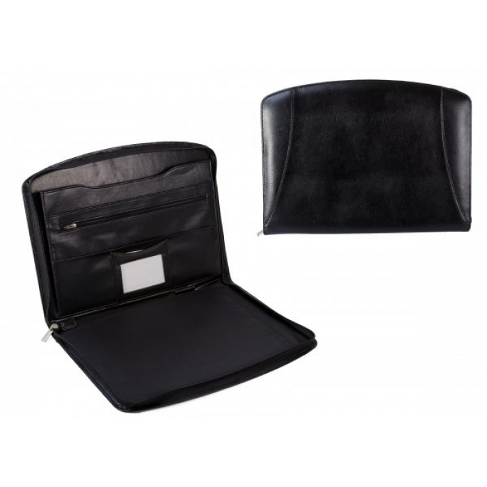 200B BLACK PU FOLIO HOLDER WITH ACCESSORY SECTION