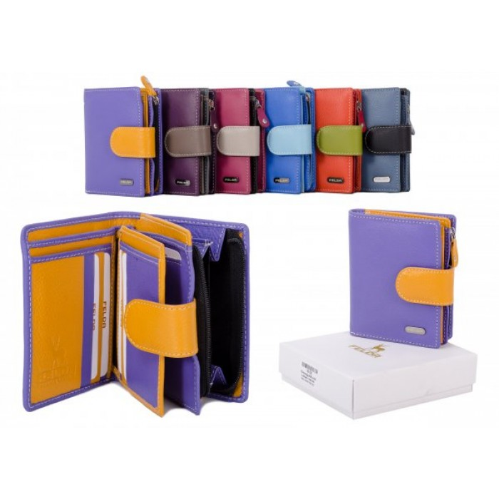 16-103 VIOLET RFID MULTI LADIES WALLET
