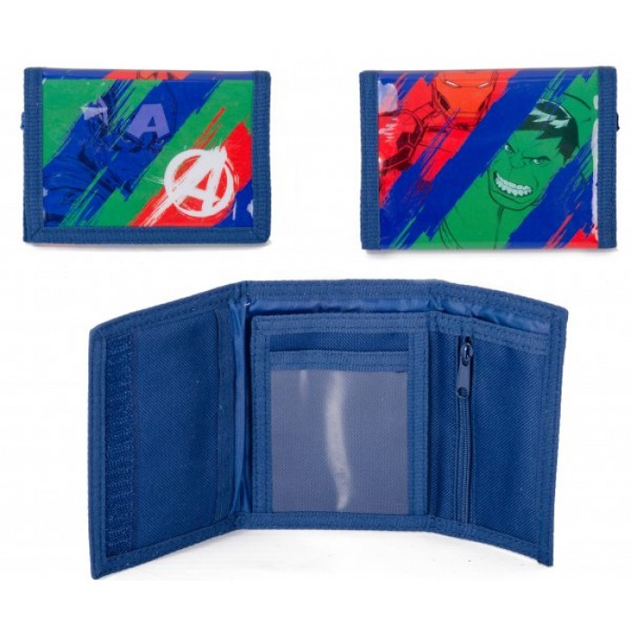 00789 AVENGERS SPLASH WALLET NAVY BLUE