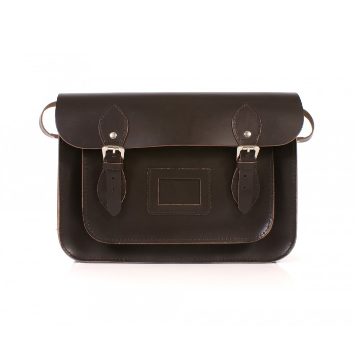BL13 DARK BROWN MAGNET SATCHEL