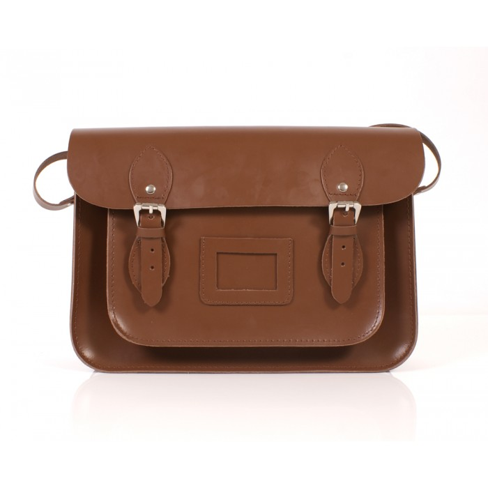BL13 LIGHT BROWN MAGNET SATCHEL