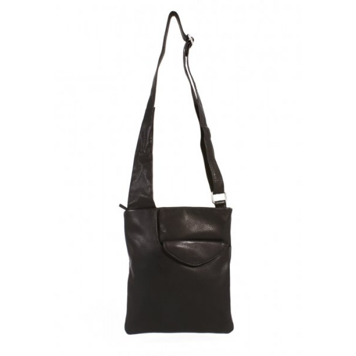 BODYBAG BLACK ITALIAN LEATHER CLEARANCE
