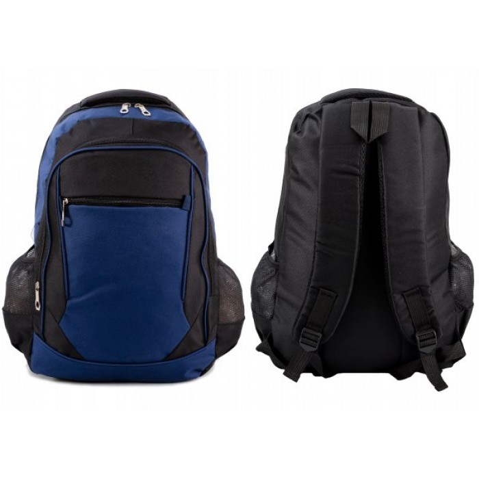 BP-114 BLK/NAVY RUCKSACK W/ 4 ZIPS AND 2 NETTED POCKETS