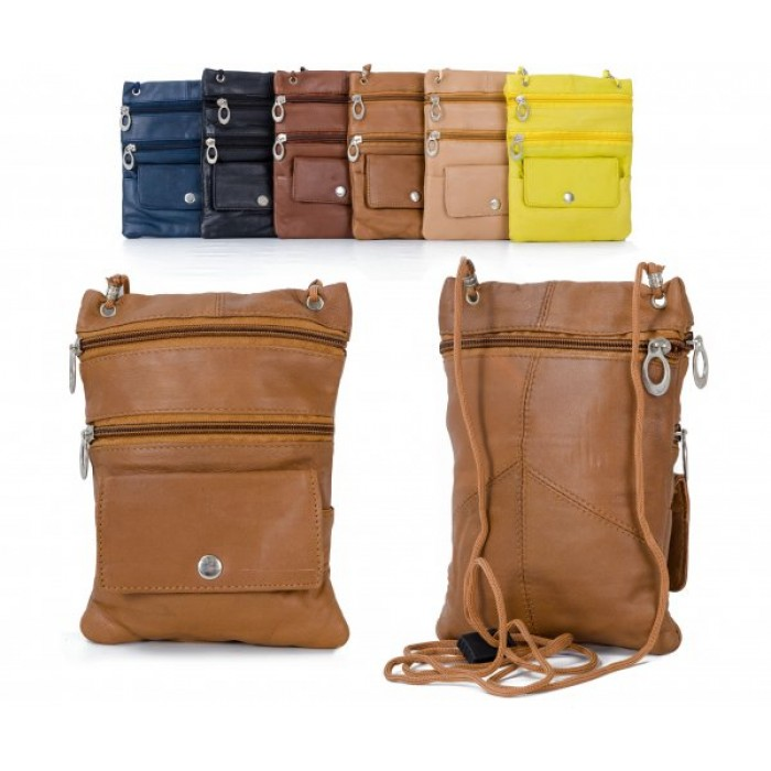 905 LIGHT BROWN LEATHER/PU CROSSBAG
