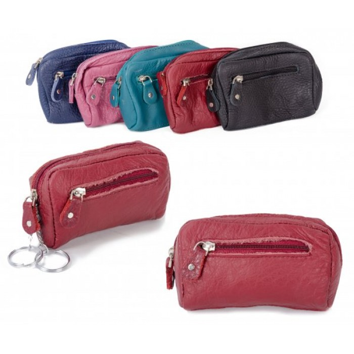 CPDM 53 RED COIN/KEY PURSE W/ ZIPS
