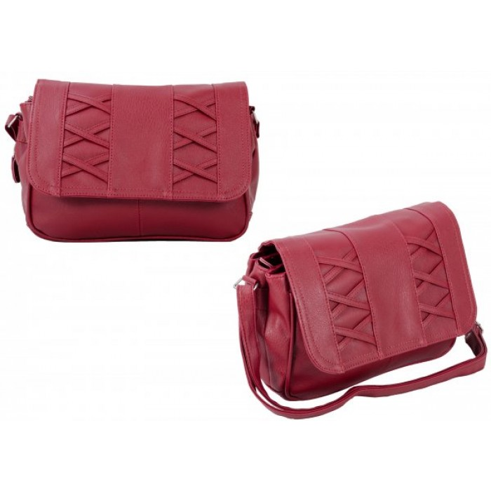 JBHB2548-B RED CROSSBAG W/3 ZIPS