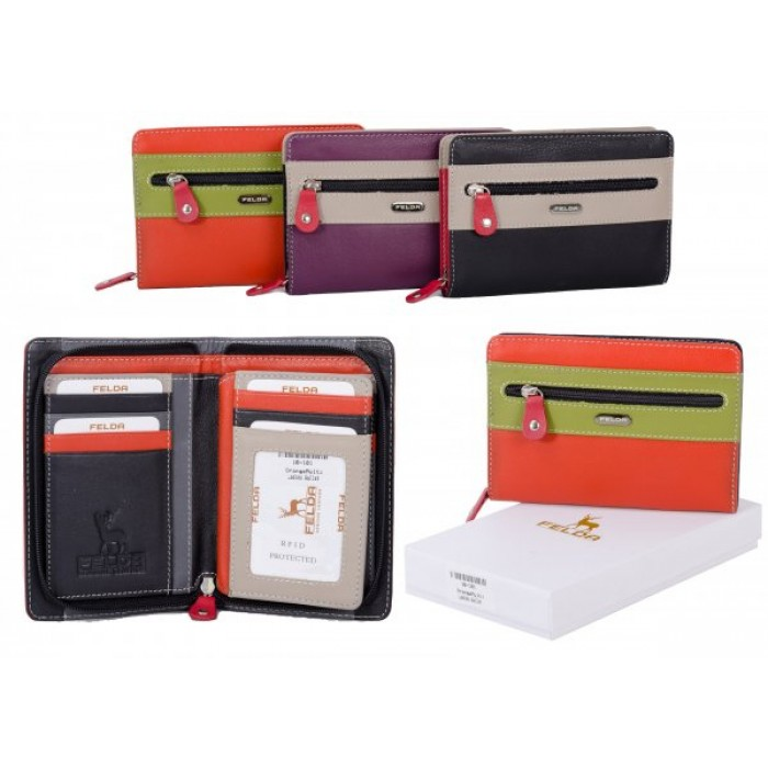 16-101 ORANGE RFID LADIES PURSE