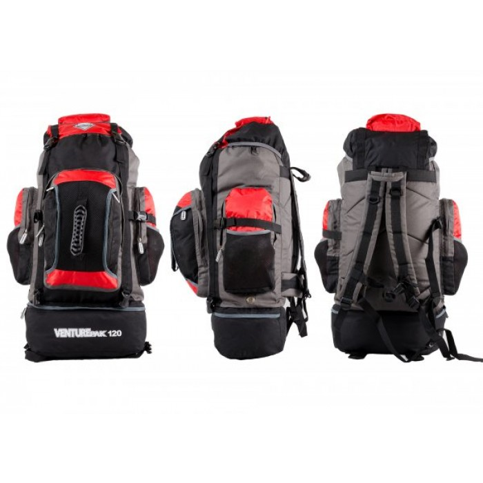 JBBP175 BORDERLINE VENTUREPAK 120 BLACK/RED/GREY