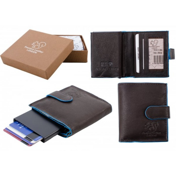 RL 9003A RFID C-SECURE CASE WALLET BROWN BLUE