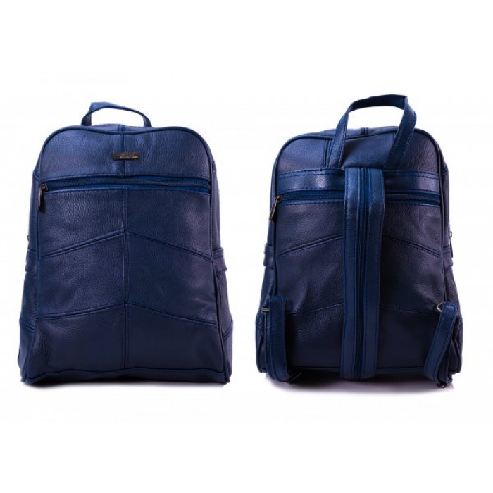3759 NAVY LARGE BACKPACK WITH LARGE TOP ZIP