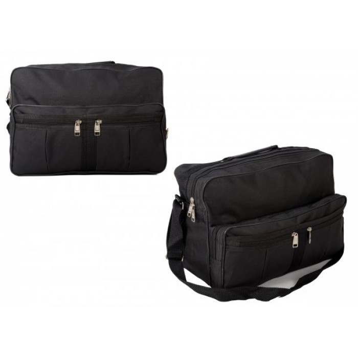 TB-101 BLACK HOLDALL W/ FRONT POCKETS £4.25