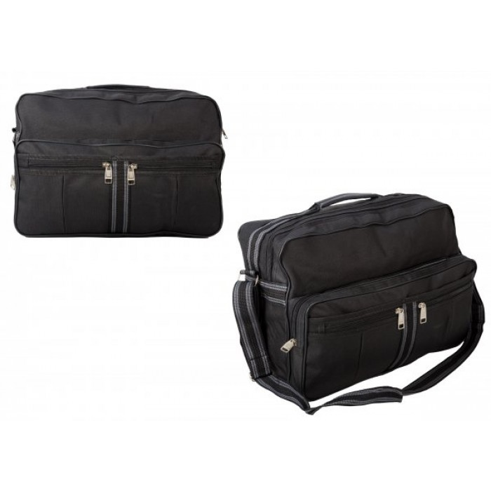 TB-101 GREY HOLDALL W/ FRONT POCKETS