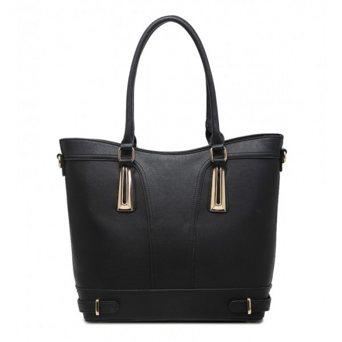 F6190 BLACK SHOULDER BAG