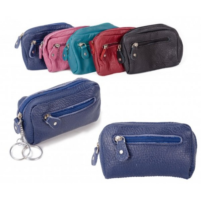 CPDM 53 BLUE COIN/KEY PURSE W/ ZIPS