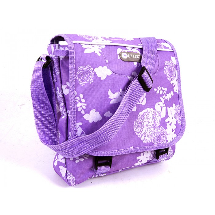HT-1040 PURPLE FLORAL SHOULDER BAG