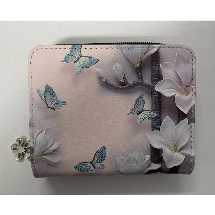 7095 SMALL RFID PURSE WITH BUTTERFLIES