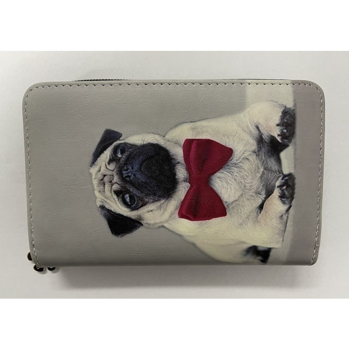 7096 MEDIUM SIZED RFID FRENCH BULLDOG WITH A RED BOW TIE